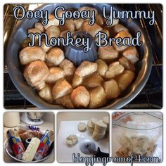 This Monkey Bread is easy and oh so good!! I made it today for a special treat for my husband. By the time the kids got done snacking on it, it was gone.
