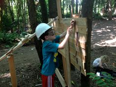 With real tools and real wood, little builders can hammer, nail and saw until their heart's content at this one-of-a-kind playground.