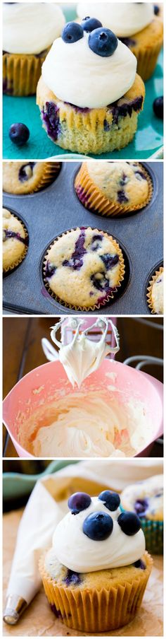 These blueberries 'n cream cupcakes are bursting with vanilla, juicy blueberries, and a hint a lemon. They're so simple!