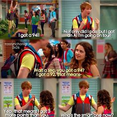 Austin and Ally.....people do realize that fez got 2 more points than Ally, not 3, he did the math wrong :) cause it's dez