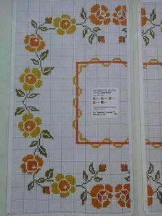 Cross Stitch Borders, Cross Stitch Rose, Cross Stitch Designs, Cross Stitch Patterns, Crochet Patterns, Brick Stitch, Needlepoint, Diy And Crafts, Crochet Hats