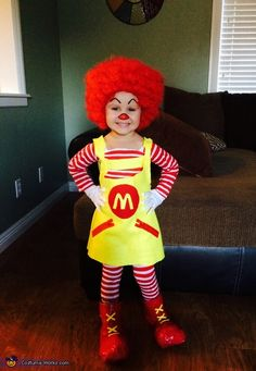 Ronald McDonald DIY Halloween Costume