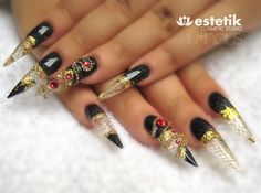 stilleto nail art | Orient Stiletto - Nail Art Gallery