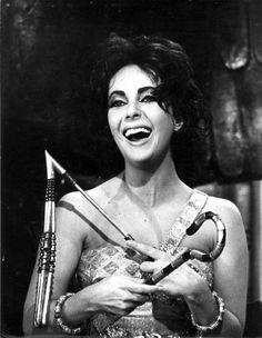 Elizabeth Taylor on the set of Cleopatra 1963