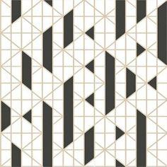 Kelly Hoppen Linear Black & White Wallpaper