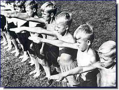 The children were indoctrinated at an early age in Nazi Germany
