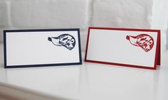 Baseball Cap Place Cards, Baseball Party Food Tents, Bar Mitzvah Place Cards, Party Favor Bag Toppers by LaurasPaperCreations on Etsy https://www.etsy.com/listing/191422144/baseball-cap-place-cards-baseball-party