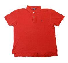 Ralph Lauren polo sport shirt mens Red 100% cotton size L logo #RalphLauren #PoloRugby