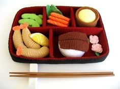Crochet Pattern - BENTO - Toys / Playfood - PDF. $5,99, via Etsy.