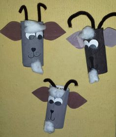 Goats roll - Diy and Crafts Mix Rain Crafts, Crafts To Do, Crafts For Kids, Toilet Roll Craft, Toilet Paper Roll Crafts, Toddler Crafts, Preschool Crafts, Fairy Tale Crafts, Billy Goats Gruff