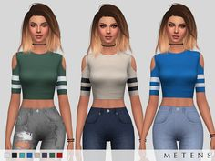 Sims 4 Updates: TSR - Clothing, Female : Alisia Top by Metens, Custom Content Download!