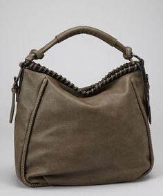 Take a look at this Taupe Pebbled Faux Leather Hobo by Sondra Roberts on #zulily today!
