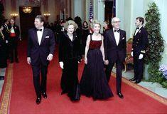 Ronald Reagan, Margaret Thatcher, Nancy Reagan, Denis Thatcher