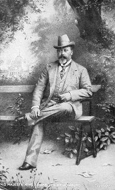 Edward VII, with a homburg hat
