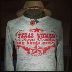 $36 . Texas Women Texas Weather Burnout Raglan.  Texas National Outfitters