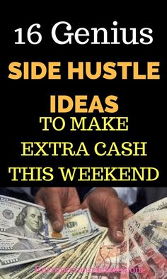 Looking for Side Hustle Ideas to make money this weekend? Check out these 16 amazing Side Hustle Ideas to make extra cash even without any experience. by senseofcents Read Earn More Money, Make Money Fast, Earn Money Online, Make Money From Home, Making Extra Cash, Digital Marketing Strategy, Seo Strategy, Money Matters, Money Tips