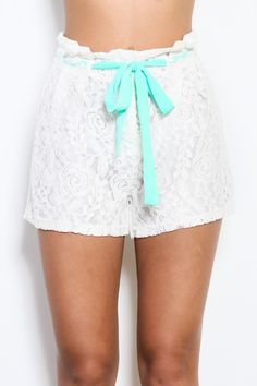 White Lace Shorts from Monica's Closet Essentials