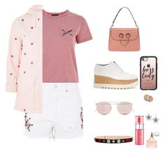 """""""Pink,Pink!"""" by peeweevaaz ❤ liked on Polyvore featuring Topshop, STELLA McCARTNEY, Illesteva, Alexander McQueen, Casetify, Guerlain, casual, outfit, polyvoreeditorial and polyvorefashion"""
