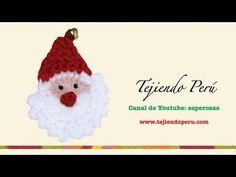 Papa Noel tejida en crochet (video is in spanish but it is very easy to follow it !)