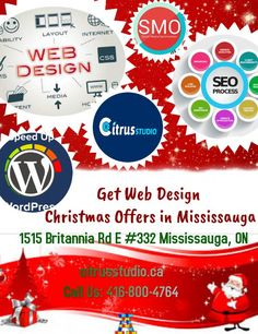 CitrusStudio is a leading web design Mississauga and website development company offers eCommerce, WordPress and SEO friendly custom design websites. Christmas Offers, Website Development Company, Seo Company, Custom Design, Web Design, Canada, Website Designs, Site Design