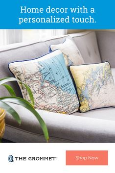 Not for Navigation customized pillows and tote bags are made by printing maps of any location onto them. Custom Icons, Custom Map, Large Pillows, Decorative Pillows, Egyptian Home Decor, Accent Pillows, Throw Pillows, Nautical Pillows, Nautical Chart