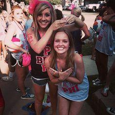 Pi Beta Phi at University of North Texas #PiBetaPhi #PiPhi #BidDay #sorority #UNT
