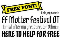 Find FF Motter Festival on #FontShop and download it for free!