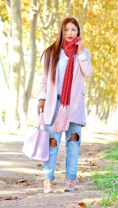 "New post on my blog ""Candy Autumn"" http://nekane2020.blogs.elle.es #candycoat #fashionblog #streetstyle #lookbook #lookofday #autumnoutfit #buscandoaaudrey #zara #sheinside #bloggersmoda"