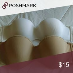 Simple Underwired Strapless Bras Both are a size 36C with great support. Have been worn twice. Intimates & Sleepwear Bras
