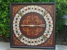 Primitive Wood Roulette 10 for 1 Horse Game Board Folk Art Antique Reproduction Gameboard via Etsy