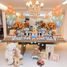 1st Birthday Centerpieces, Birthday Party Themes, Baby Shower Fun, Baby Shower Themes, Baby Boy 1st Birthday, Candy Party, Cake, Bernardo, Milan