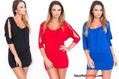 Women s Open Sleeve Tunic Top Blouse Mini Dress