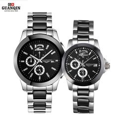 Big sale US $149.99  GUANQIN Ceramics Couples Lovers' Watches Multifunction Waterproof Automatic Mechanical Watches Men Women Sport Luminous Clock  #GUANQIN #Ceramics #Couples #Lovers' #Watches #Multifunction #Waterproof #Automatic #Mechanical #Women #Sport #Luminous #Clock  #BestSeller