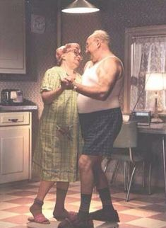 Older couple dancing (you don't have to get dressed up to go dancing.)