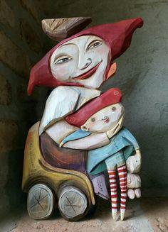 Wood Carving Art, Hana, Ronald Mcdonald, Fictional Characters, Fantasy Characters