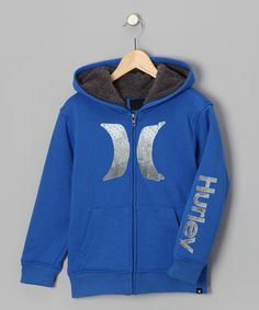 Take a look at this Blue Sherpa 'Hurley' Zip-Up Hoodie - Boys on zulily today!