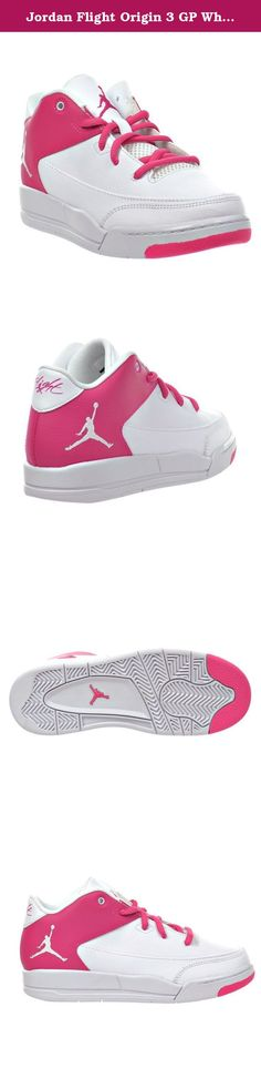 4ae593bfca9 Jordan Flight Origin 3 GP White Vivid Pink-White (Little Kid).