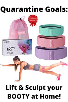 Hurdilen Resistance Bands Loop Exercise Bands Booty Bands,Workout Bands Hip Bands Wide Resistance Bands Hip Resistance Band for Legs and Butt,Activate Glutes and Thigh At Home Glute Workout, Butt Workout, At Home Workouts, Quick Easy Workouts, Resistance Band Loop Exercises, Activate Glutes, Workout Accessories, Fat Burning Workout, Want To Lose Weight
