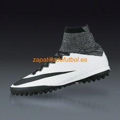 Zapatillas de futbol Para Moqueta Nike Mercurial X Proximo TF Blanco Negro
