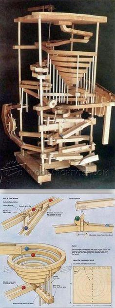 DIY Wooden Marble Run - Children's Outdoor Plans and Projects | WoodArchivist.com