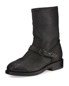 RAG & BONE Oliver Leather Moto Boot, Black. #ragbone #shoes #boots