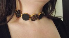 Wooden choker necklace by MaryLooGifts on Etsy