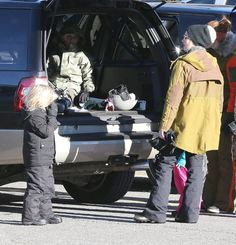 Gwen Stefani and Gavin Rossdale take their boys Kingston and Zuma to a playground in Mammoth, California