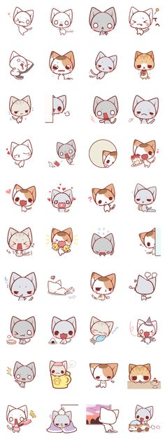 cute everyday stamp of Nyanko We are a popular nekonokandume!