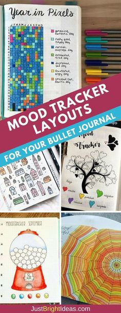 Bullet Journal Mood Tracker Layouts - These are the perfect spreads to keep a tab on your emotions! #bujo #bulletjournal #selfcare