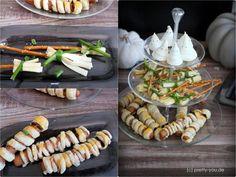 CASTLEMAKER Lifestyle-Blog - Halloweenparty für Kinder - Einladungen, Snacks & Co « CASTLEMAKER Lifestyle-Blog Cupcakes, Snacks, Vegetables, Blog, Halloween Ideas, Celebration, Finger Food, Invitations, Kids