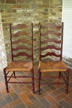 Antique Mahogany Ladder Back Chairs