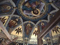 Iisus Pantokrator, Catedrala Arhiepiscopala Arad, Fresca-2016 Study Techniques, Church Interior, Orthodox Icons, Mural Painting, Byzantine, Art, Icons, Places, Art Background