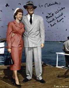 Noel Neill (Lois Lane) & George Reeves (Clark Kent/Superman) 1952-1958 Adventures of Superman TV series.