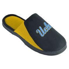 Men's Ucla Bruins Scuff Slippers, Size: Medium, Black